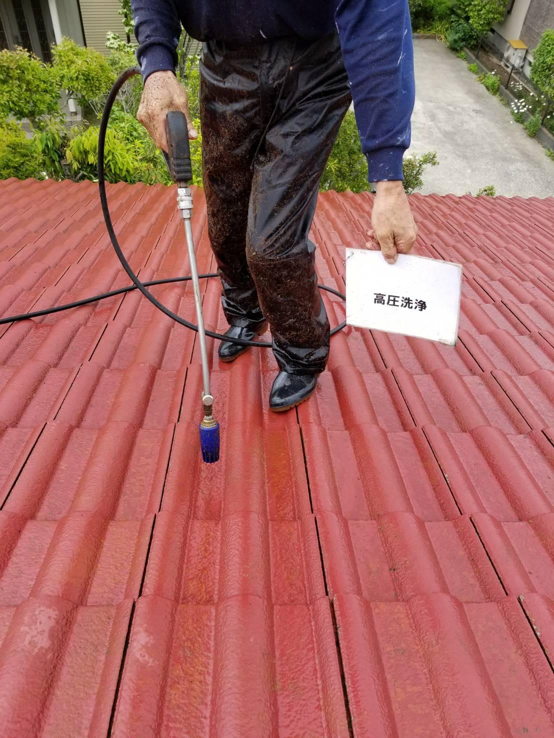 長生郡一宮町M様邸屋根塗装工事