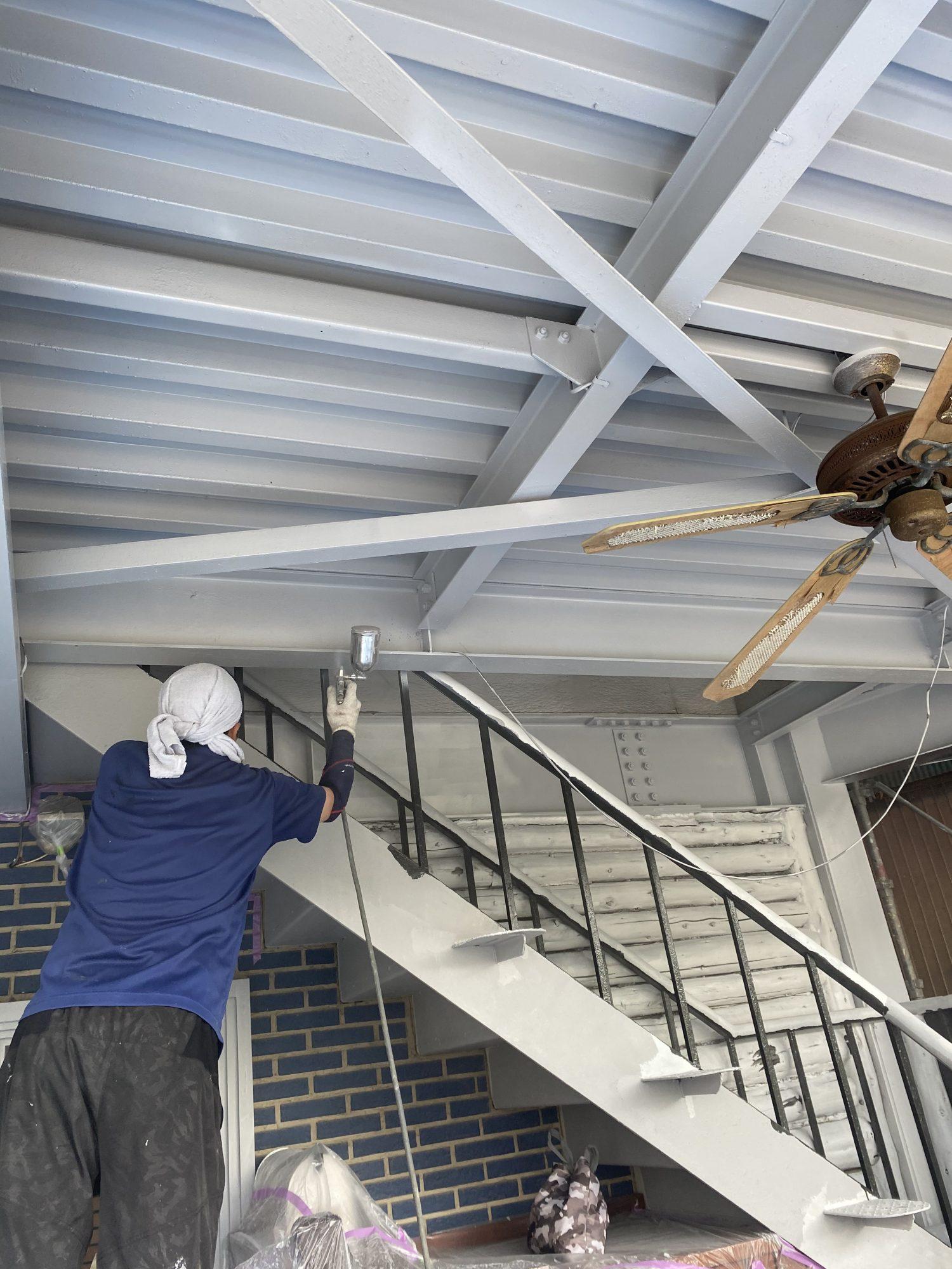 茂原市町保ビル屋根外壁塗装工事