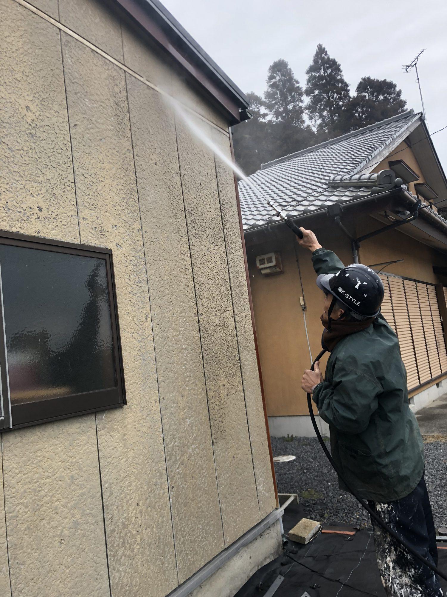 いすみ市倉庫外壁塗装工事