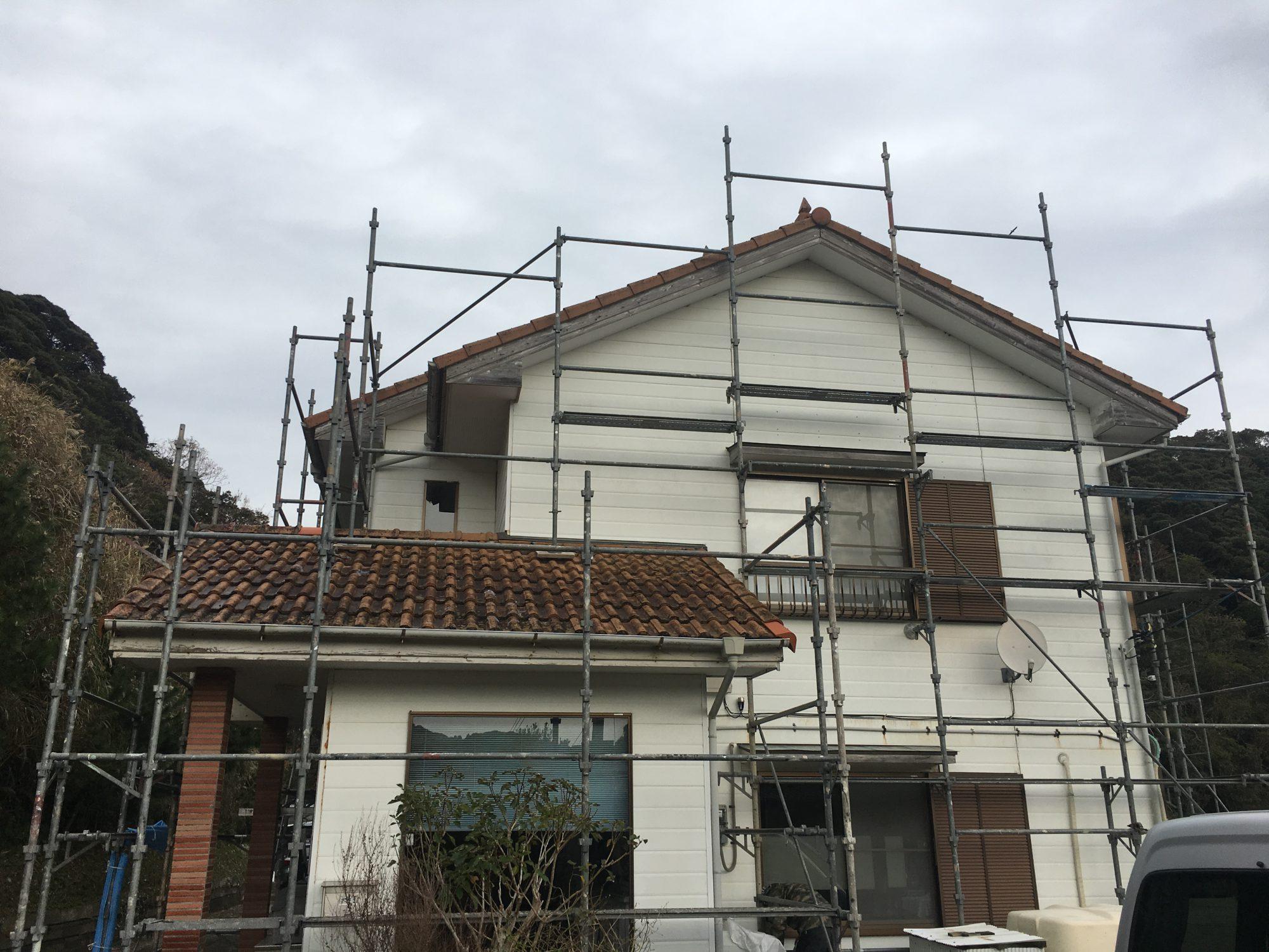 勝浦市部原N様邸外壁塗装工事