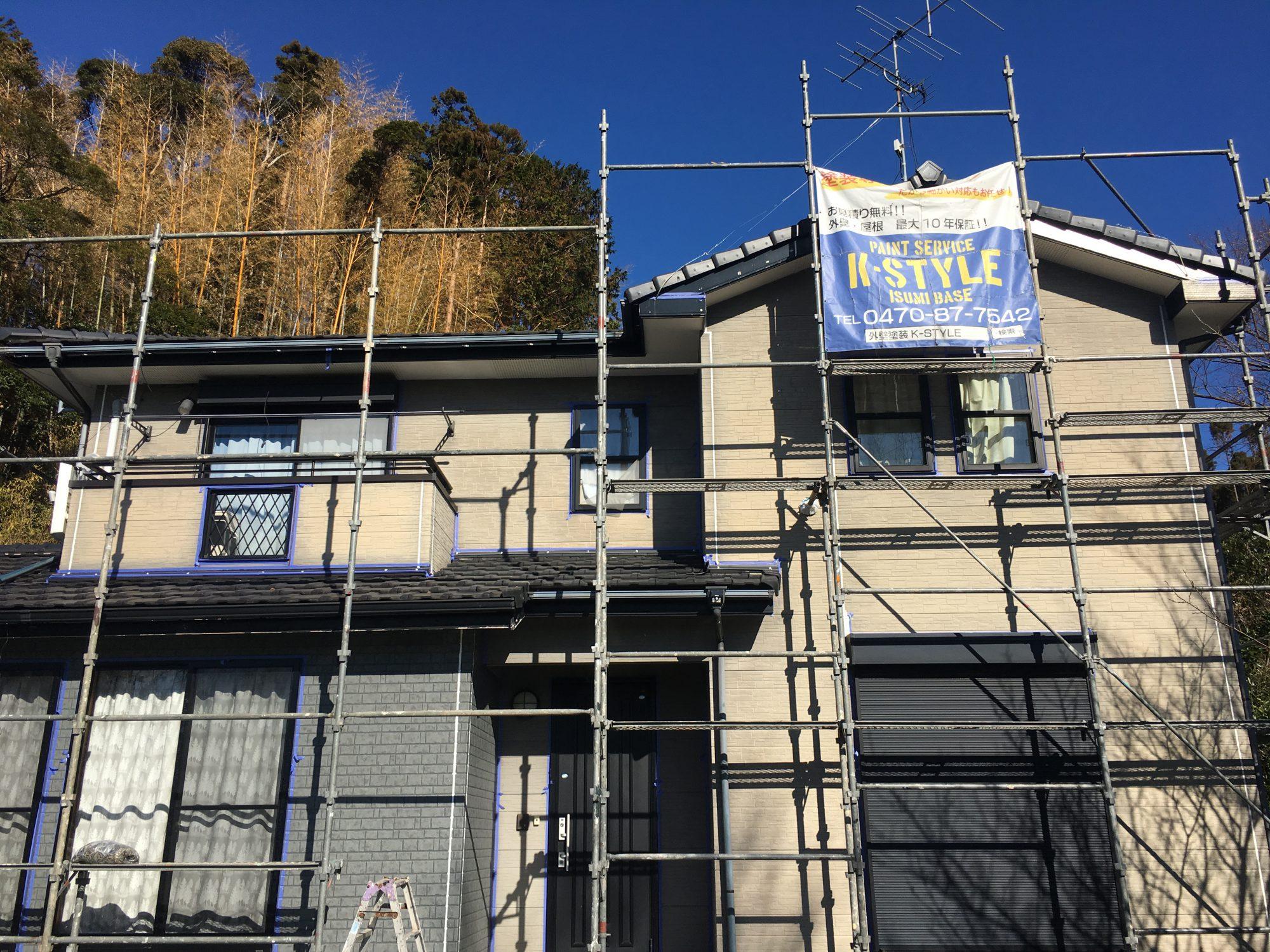 いすみ市下原K様邸外壁塗装工事