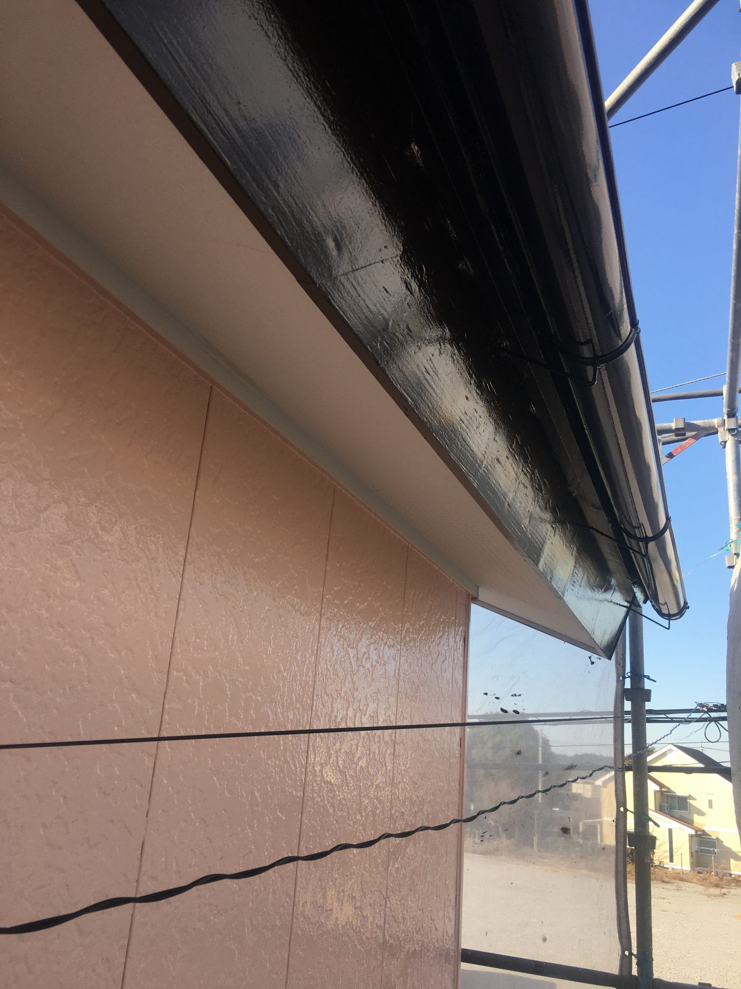 茂原市チャーム美容室外壁塗装工事
