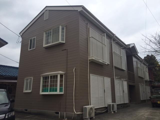 茂原市 アパート屋根・外壁塗装工事 After
