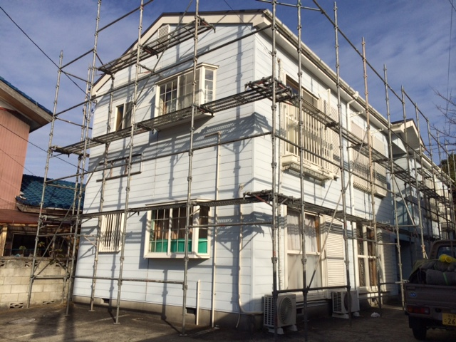 茂原市 アパート屋根・外壁塗装工事 Before