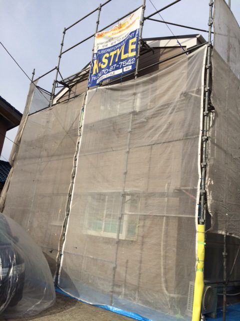 茂原市 アパート屋根・外壁塗装工事
